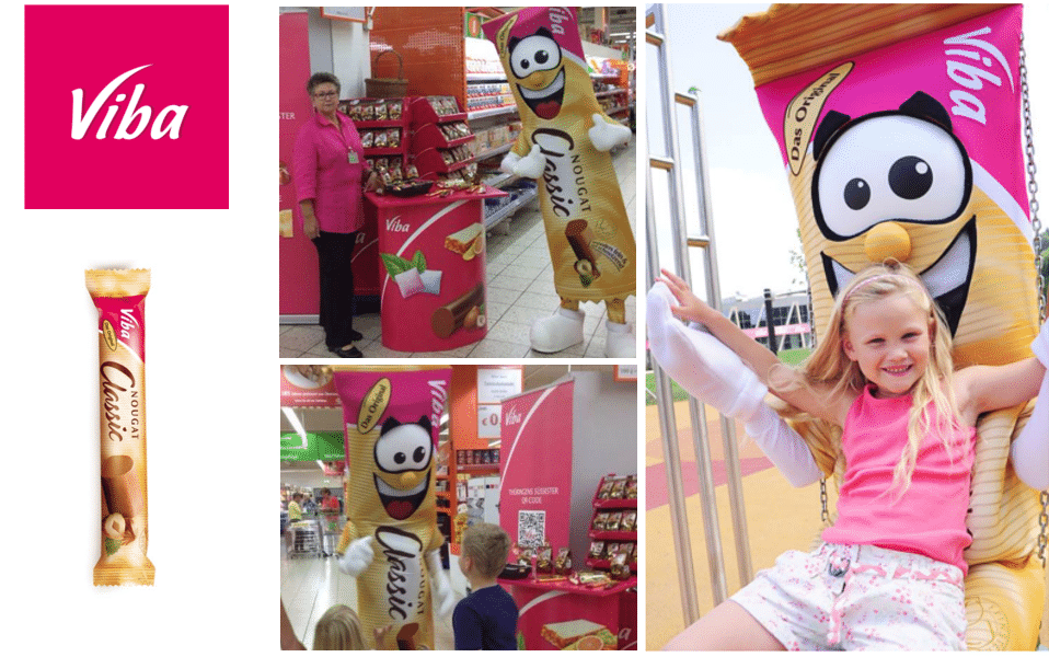 Maskottchen Kostüm Referenz Viba Sweets
