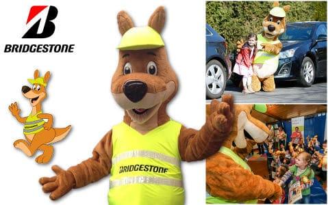 Maskottchen Kostüm und Walking Act Bridgestone Promo Bears