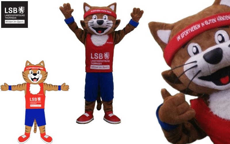 Maskottchen Kostüm - Landes Sport Bund Thüringen - Muskelkater -Promo Bears-