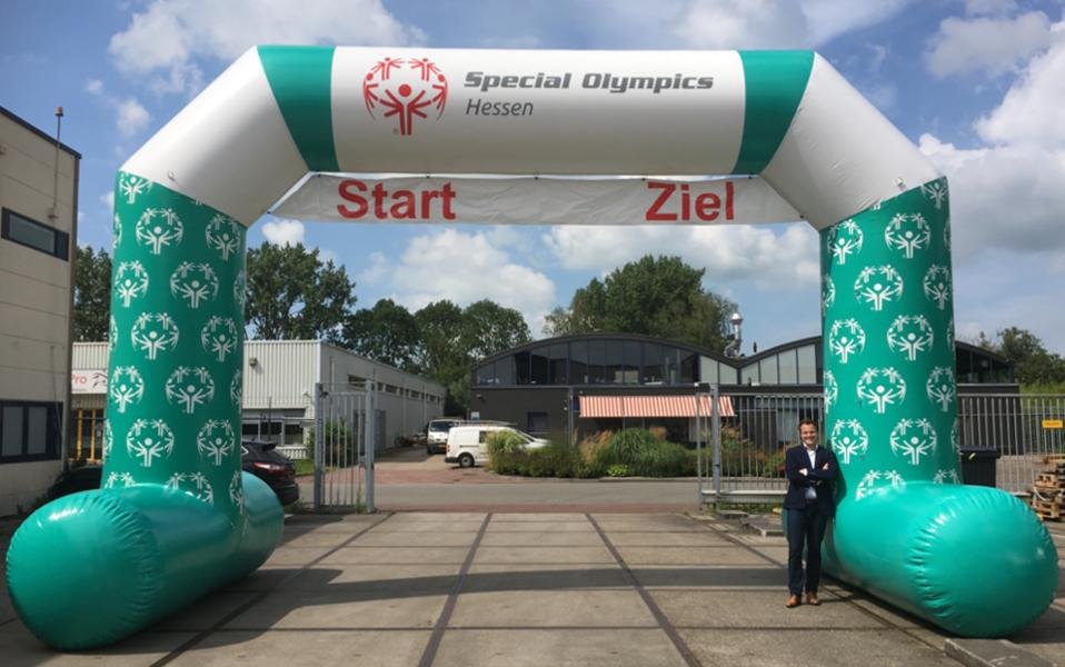 Aufblasbarer Torbogen Startbogen Zielbogen Special Olympics Hessen 8.50 x 5.75 x 1.25 meter -Promo Bears-