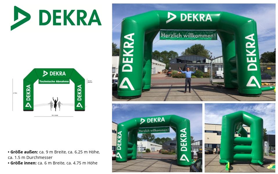 Aufblasbarer Torbogen Referenz Projekt DEKRA