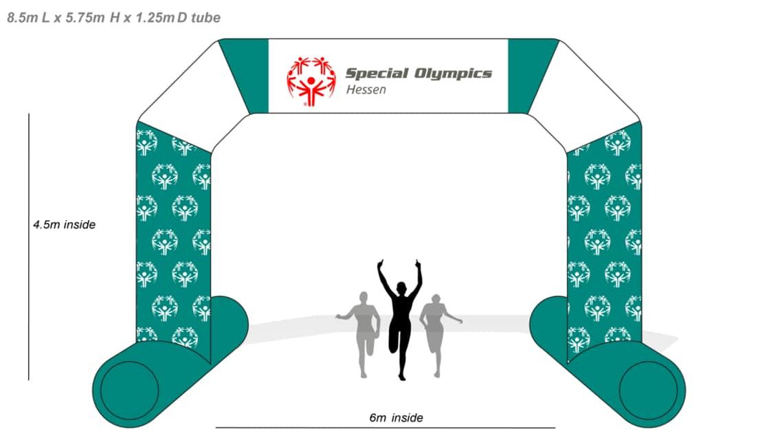 Entwurf Torbogen Referenz Projekt Special Olympics Hesen